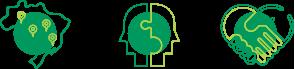 ícones de Sistema Unimed, inter-cooperação, parceria